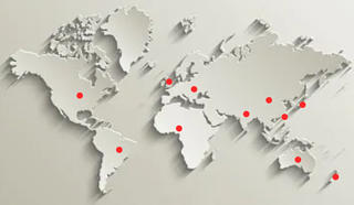 Countries in world map marked up as per Open Banking discussion
