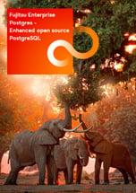 1st  page brochure FUJITSU Enterprise Postgeres - Fujitsu's enhanced open source PostgreSQL