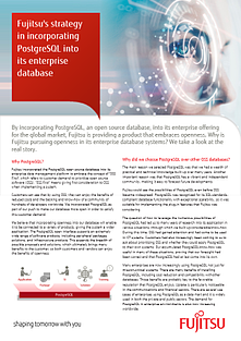 Brochure: FUJITSU's Strategy in Incorporating PostgreSQL