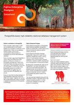 1st page datasheet FUJITSU Enterprise Postgres