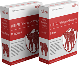 FUJITSU Enterprise Postgres 11 trial download boxes - Window version and Linux version
