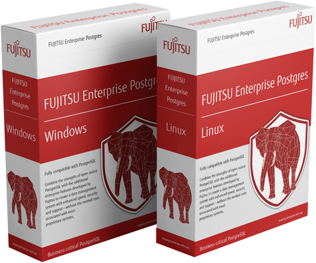 FUJITSU Enterprise Postgres 11 trial download boxes - Window version and Linux version