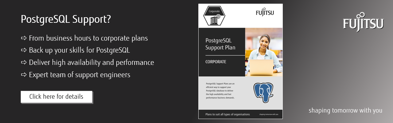 PostgreSQL Support plans
